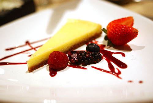 Grandma's Cheesecake, Wild Berry Puree