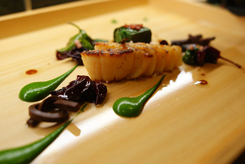 Diver Sea Scallop with Bloomsdale Spinach & Japanese Turnip
