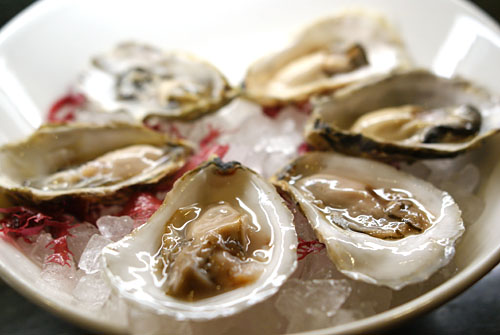 Oysters with Horseradish & Ponzu