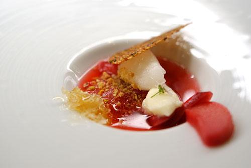 Chamomile-Stewed Rhubarb