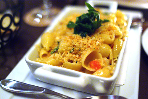 Lobster Mac N Cheese with a Spicy Cheese Sauce