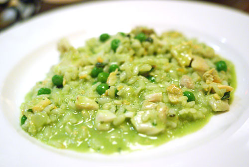 Seafood Risotto, Peas, Pesto