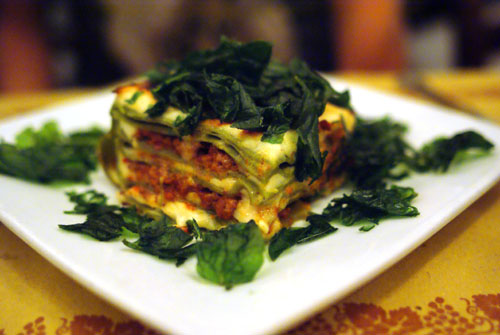 Lasagna Verde 'Omaggio Nonna Elvira' with Beef and Veal Ragú