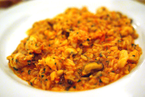 Risotto with Mixed Seafood Rag