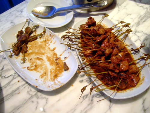 Beef and Chicken Skewers
