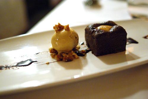 Chocolate and peanut butter truffle cake