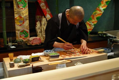 Hiro-san Preparing Toro Tataki