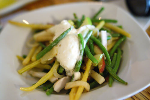 Green Beans Salad Peach Coconut Apple Horseradish & Lemongrass