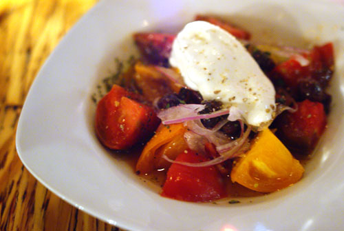 Marinated Heirloom Tomato Red Onions Feta Mousse Olive