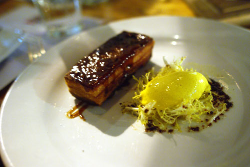 Lacquered Pork Belly Mustard Ice Cream Vadouvan