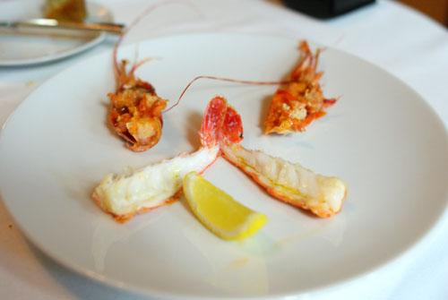 grilled santa barbara spot prawns