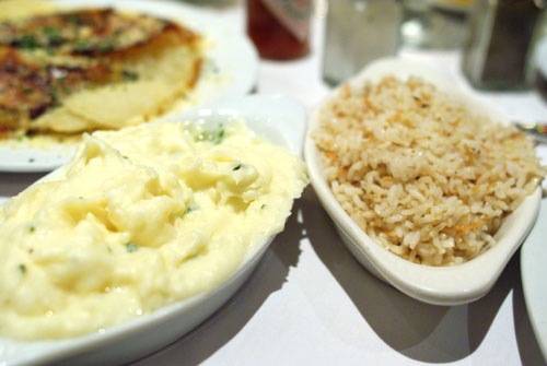 Garlic Mashed Potatoes & Rice Pilaf