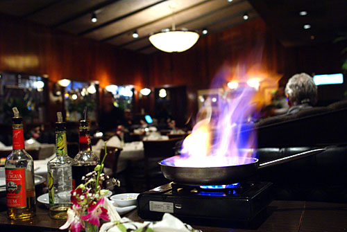 Tableside Banana Flambe