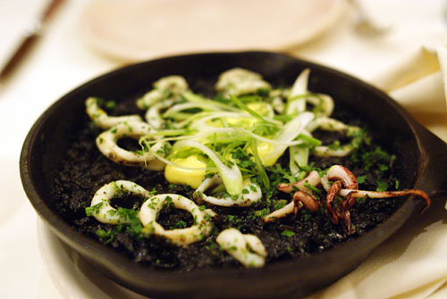 Arroz Negro with Squid and Saffron Aïoli