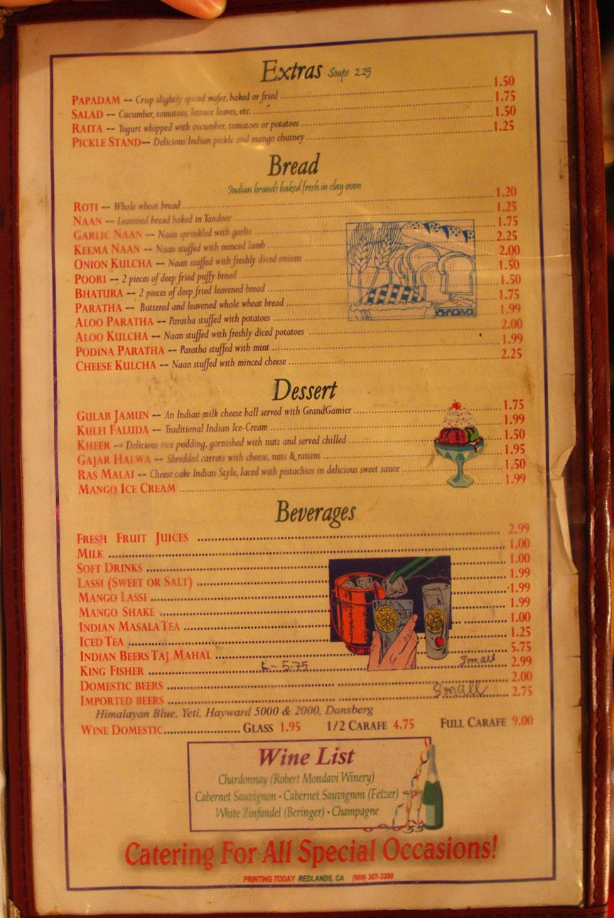 Pickles Indian Restaurant Artesia Ca