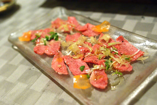 Beef Tongue Carpaccio
