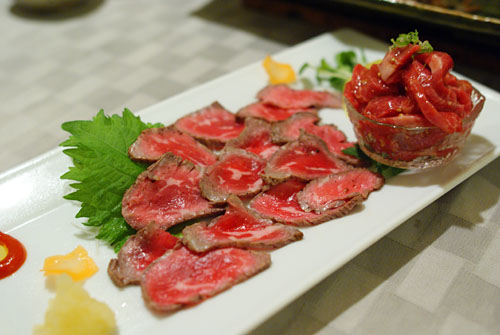Beef Tataki & Beef Throat Sashimi