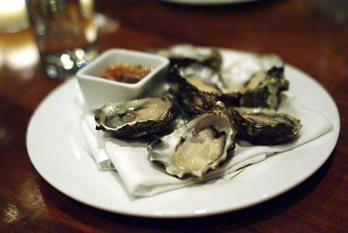 Oysters, beau-soleil, cabernet mignonette