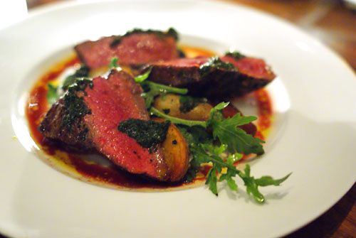 Grilled Flat Iron Steak With Chimichurri And Fingerling Potatoes ...