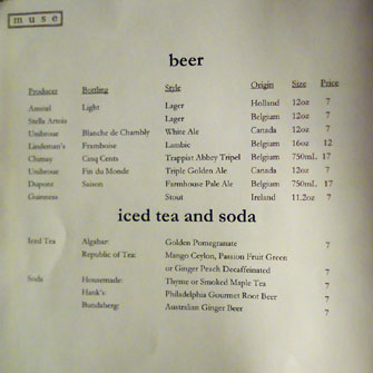 Beer List
