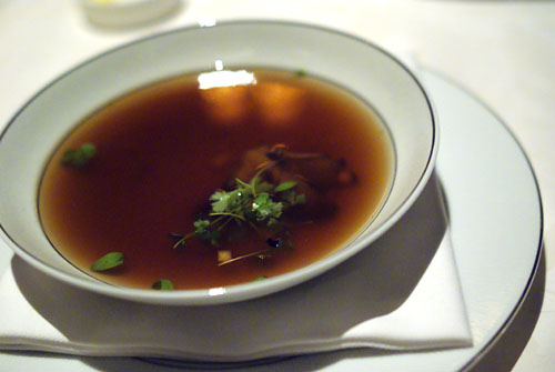 Consommé of Wild Mushrooms