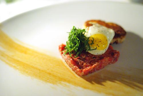 Tartare of prime beef tenderloin