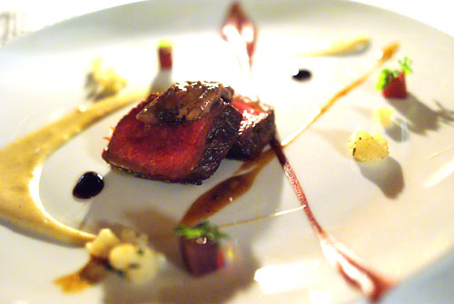 Grilled ostrich tenderloin 'Rossini'