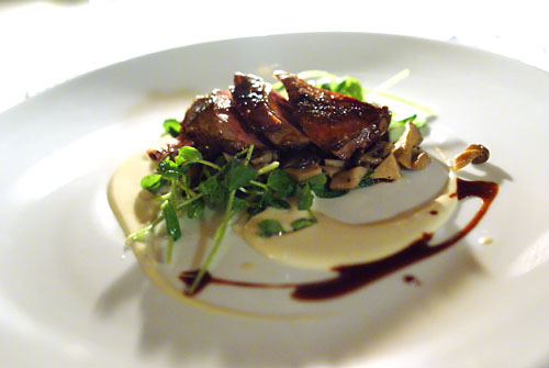 Wood grilled California squab