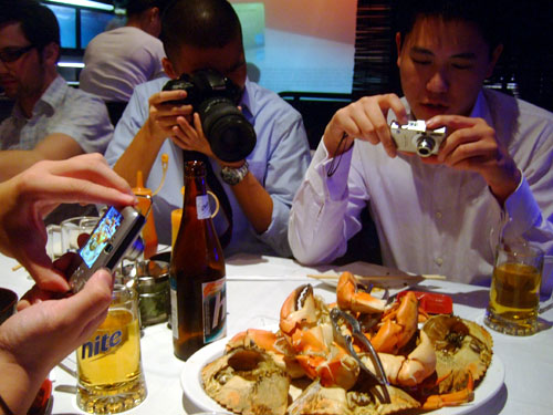 Crab Paparazzi