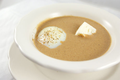 Bread Soup with Gruyere Marshmallow