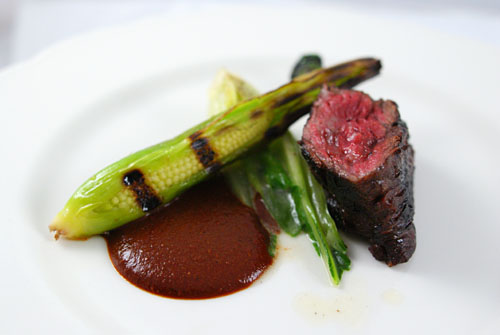 Marinated Hanger Steak, Crunchy Escargot, Baby Corn, Bok Choy & Black ...