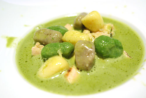 MUSHROOM BROTH 'ZEZETTE': Chicken Chiffonade, Vegetable Gnocchi