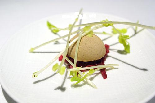 SONOMA VALLEY FOIE GRAS DÉGUSTATION: Gâteau, Trevicchio Purée, Pickled Red Onions