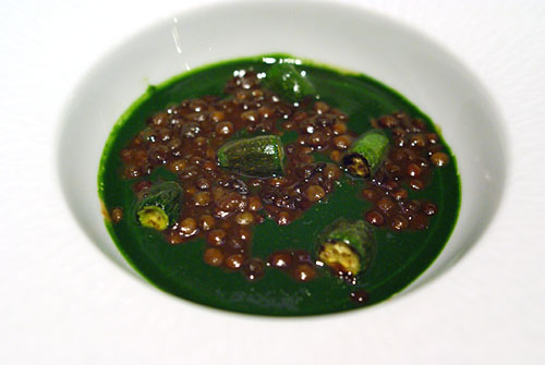 SONOMA VALLEY FOIE GRAS DGUSTATION: Custard, Green Lentils, Grilled Zucchini
