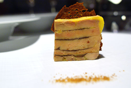 SONOMA VALLEY FOIE GRAS DÉGUSTATION: Terrine, Dried Figs, Toasted Ginger Bread