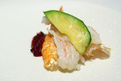 LANGOUSTINE FIVE WAYS: Grilled with TTB Sauce, Avocado
