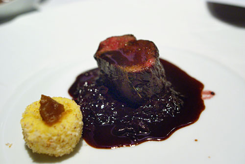 LOIN OF VENISON: Red Cabbage-Black Currant Jam, Tamy Potato