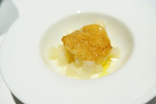 LOIN OF VENISON: Pear-Celery Gratin