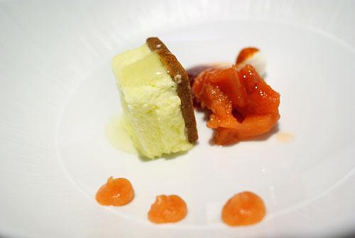 GRAND DESSERT PIERRE GAGNAIRE: Quince Gelée, Bavaroise, Chartreuse Parfait