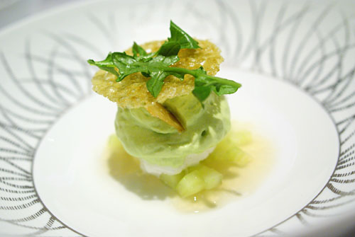 GRAND DESSERT PIERRE GAGNAIRE: Cachaa Granit, Cucumber Marmalade, Green Apple