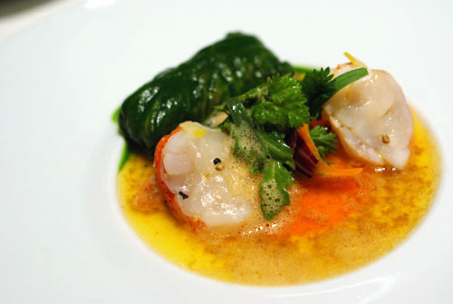 Marinated Lobster, Salad and Gelée of Carrots and Autumn Herbs