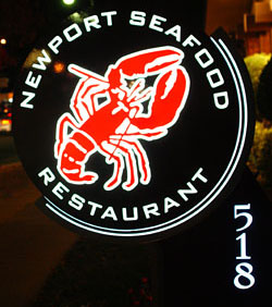 Newport Seafood Sign
