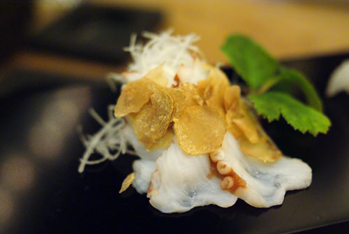 Tako with White Truffle Sauce