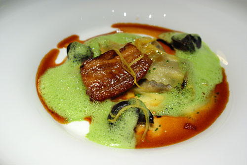 Escargot and Pork Belly Agnolotti