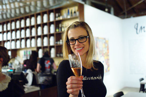 Krissy with Cremant de Bourgogne Ros