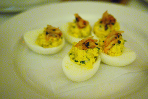 Crab Deviled Eggs