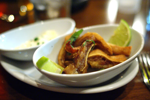Crispy Pig Ear with Lime & Horseradish Aioli