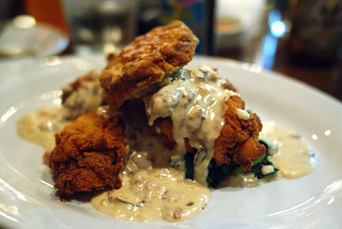 Fried Chicken with Biscuit & Bacon Gravy