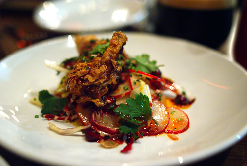 Buttermilk Fry Quail with Pomegranate