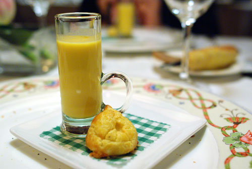 Apple-Rutabaga Soup with Gougère